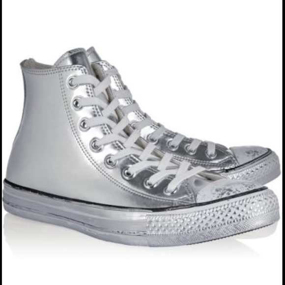 a24d4aad371 Converse Shoes - 🎉Host Pick🎉 Converse Chrome Silver High Top Shoe